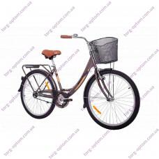 """Велосипед 26"""" Женcкий """"АИСТ"""" 1.0 ДЖАЗ С КОРЗИНОЙ (ЦВЕТ БРОНЗОВЫЙ)"""