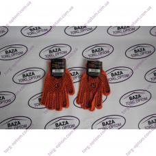 Перчатки № 564 оранжево - синие
