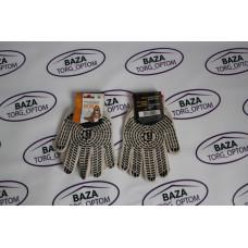 Перчатки № 547 натур. бело - черные