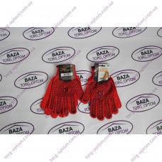 Перчатки № 4040 красно - черные