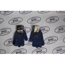 Перчатки № 587 синие - желтые