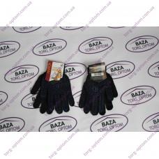 Перчатки № 667 чорно - синие