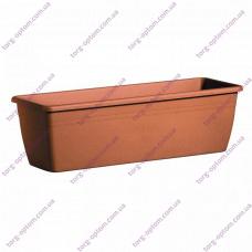 Балконний ящик для квітів з підставкою 600 (теракот)