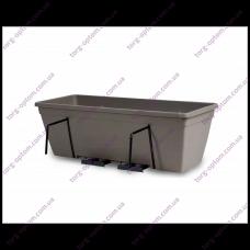 """Балконный ящик для цветов с металл. креплениями и двойным поддоном """"Анверсо"""" 60см SR"""
