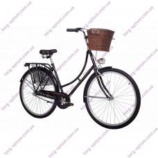 """Велосипед 28"""" Женcкий """"АИСТ"""" 2.0 AMSTERDAM С КОРЗИНОЙ (ЦВЕТ ЧЕРНЫЙ)"""