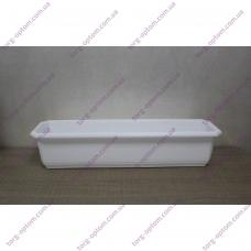 """Балконний ящик для квітів 700мм Белый """"К"""""""