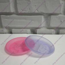 Подставка под вазон дренажный 13*9,7 фиолет.- прозрачная